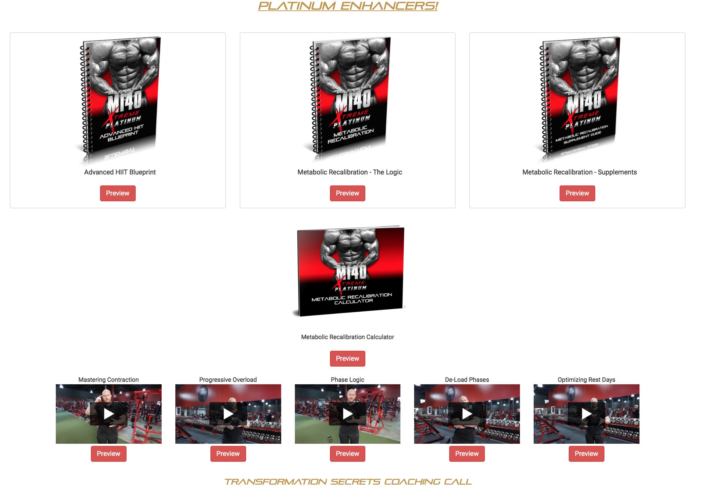 MI40 Xtreme Platinum Enhancers